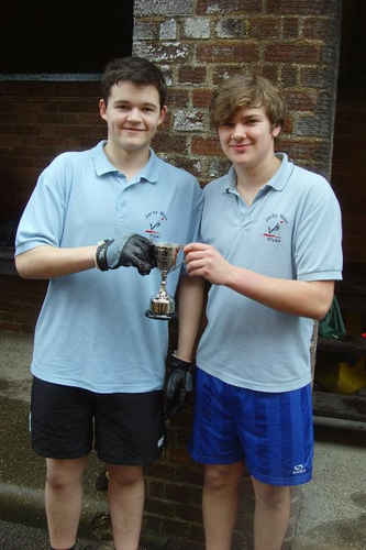 photo of Rob and Robert win U18 Doubles at Midlands Schools