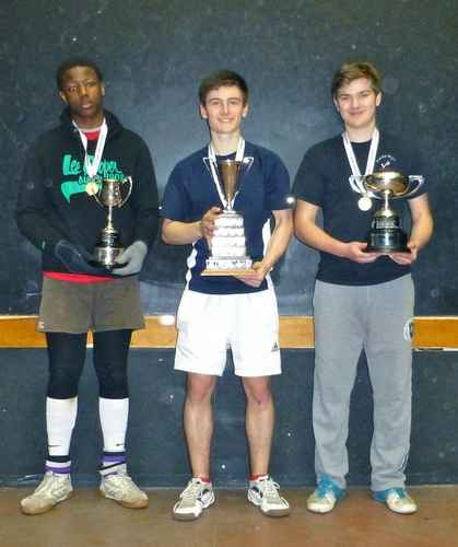 photo of Nwuba, Shaw and Rob Whitehorn, the  Under 16 singles winner