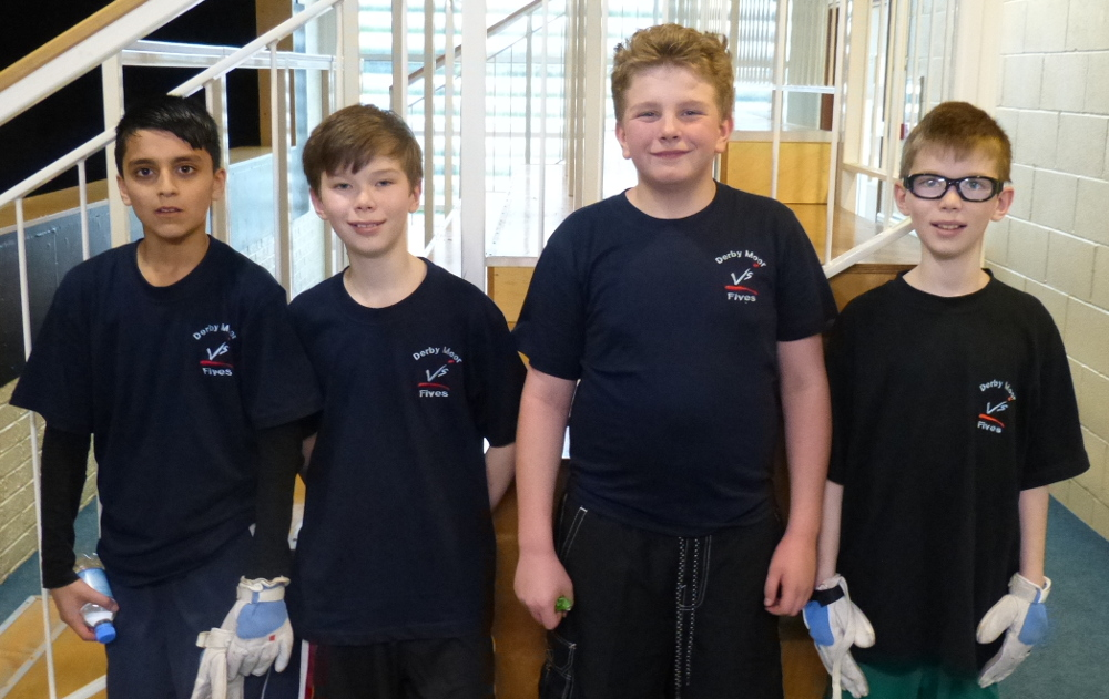 Kais Mahmood, Matthew Beardsley, Callum Yates & Steven Beardsley at U13s