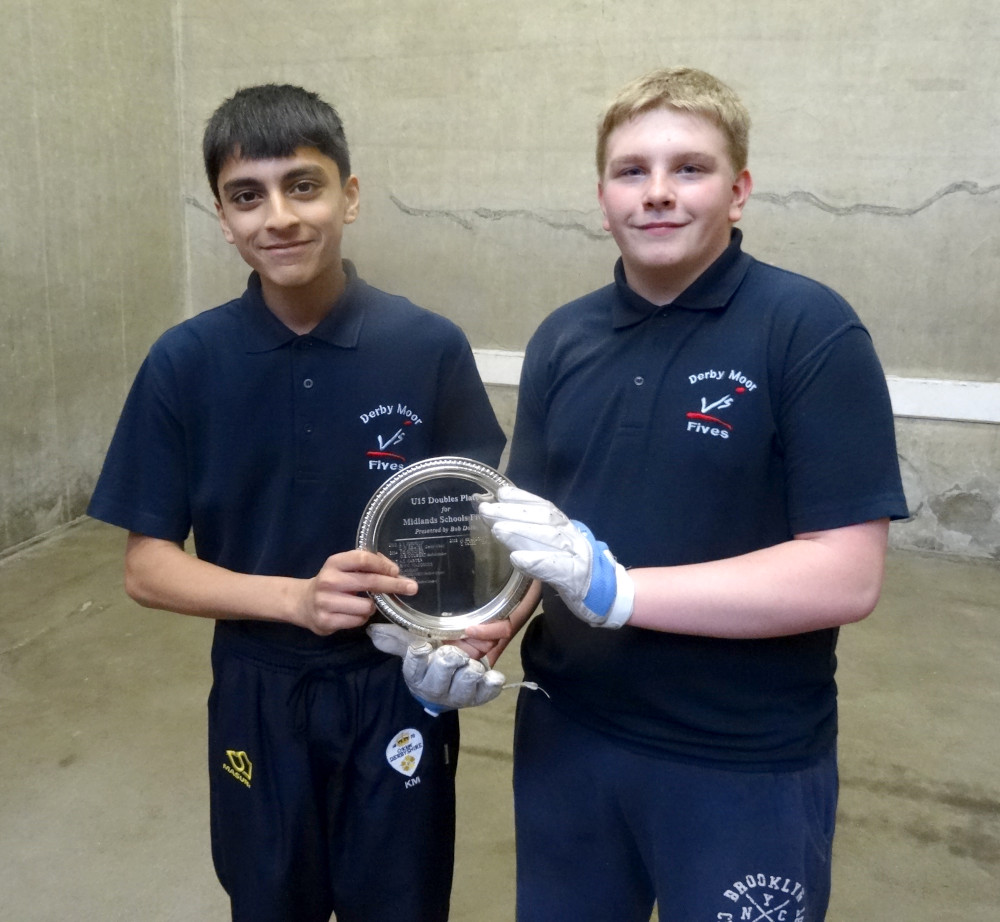 Kais Mahmood and Callum Yates win Midlands U15 Doubles Plate