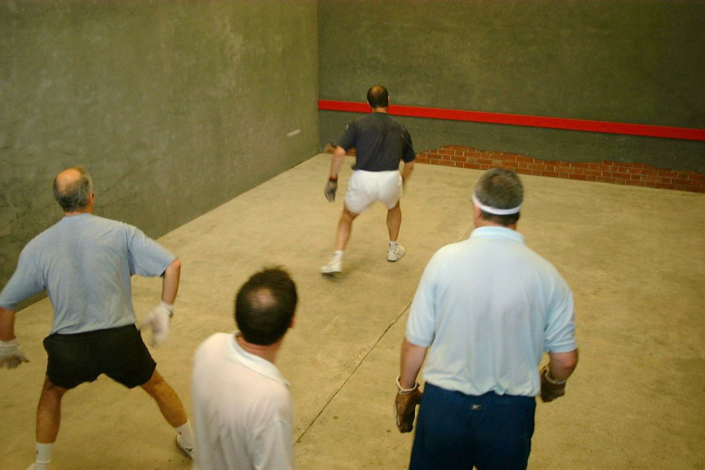 Fives court photo: courts almost complete and games played